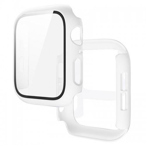Θήκη Προστασίας με Tempered Glass για Apple Watch 42mm (Άσπρο)
