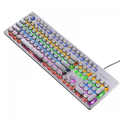Ενσύρματο Gaming Μηχανικό Πληκτρολόγιο Retro Punk Version ZK-4 (Άσπρο)