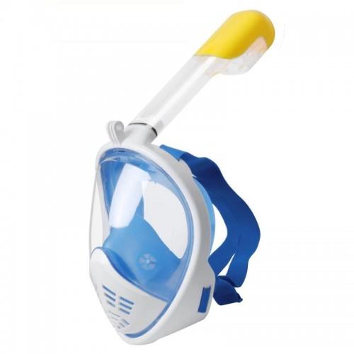 Μάσκα Κατάδυσης Full Face με αναπνευστήρα L/XL (Άσπρο-Μπλε)