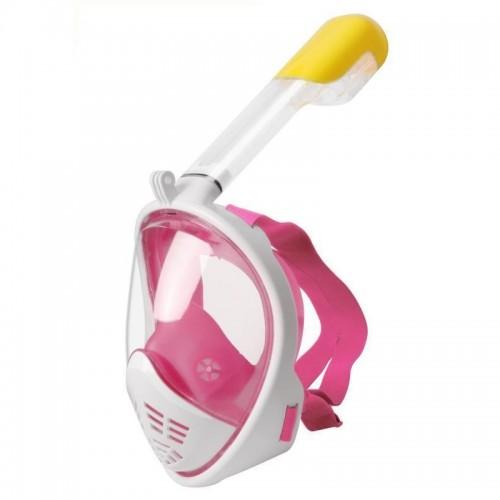 Μάσκα Κατάδυσης Full Face με αναπνευστήρα L/XL (Άσπρο-Ροζ)