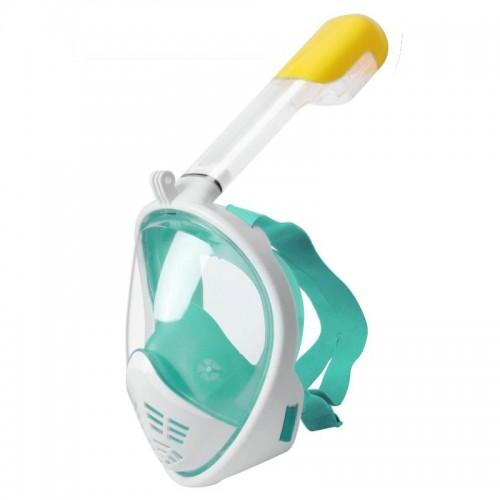 Μάσκα Κατάδυσης Full Face με αναπνευστήρα L/XL (Άσπρο - Βεραμάν)