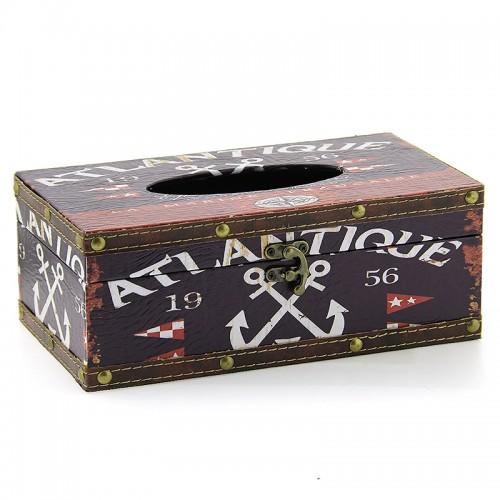Ξύλινο Κουτί για Χαρτομάντηλα Atlantique (Design)