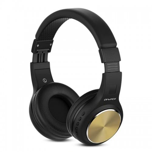 Ακουστικά Bluetooth Stereo Awei A600BL (Χρυσό)