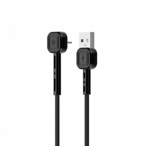 Καλώδιο Awei CL-65 USB to 90° Lightning 2.4A (Μαύρο)