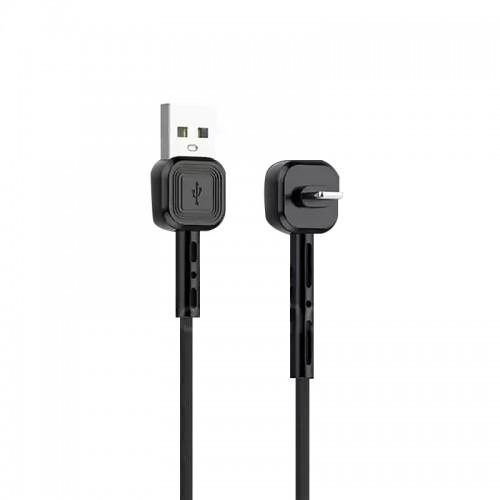 Καλώδιο Awei CL-67 USB to 90° Micro USB 2.4A (Μαύρο)