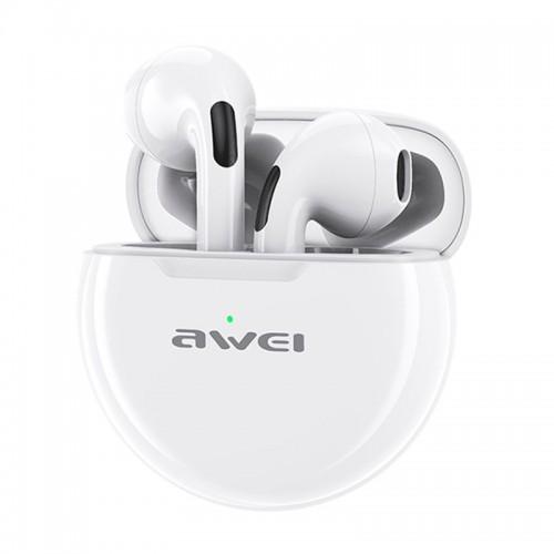Ασύρματα Bluetooth Ακουστικά Awei T17 με Βάση Φόρτισης (Άσπρο)