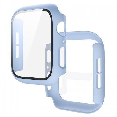 Θήκη Προστασίας με Tempered Glass για Apple Watch 42mm (Baby Blue)
