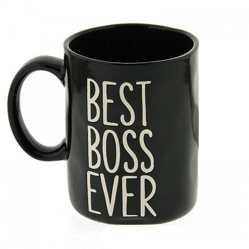 Κούπα Best Boss Ever 450ml (Μαύρο)