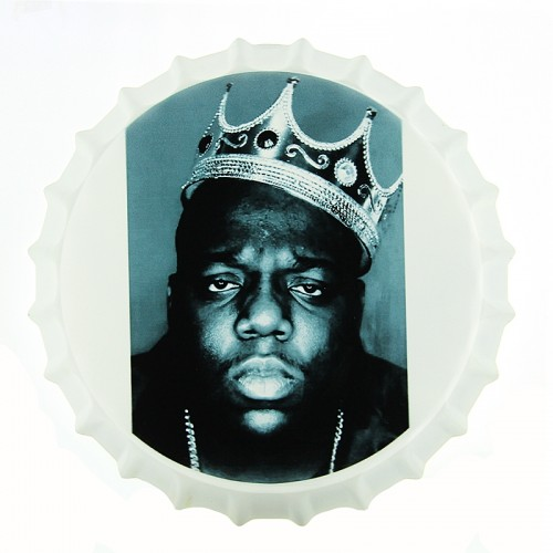 Μεταλλικό Διακοσμητικό Τοίχου Καπάκι Notorious B.I.G. (Design)