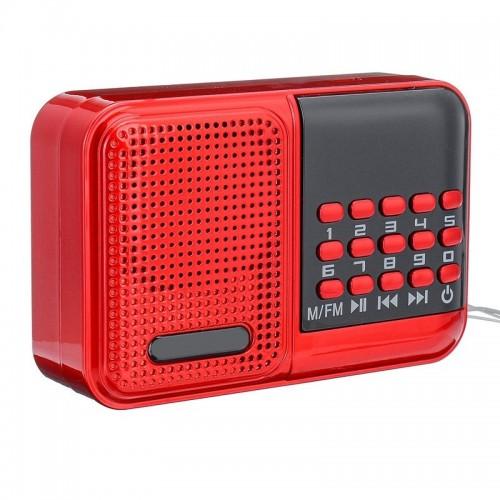 Ασύρματο Φορητό Ηχείο MP3 BKK S61 με FM Radio 3W (Κόκκινο)
