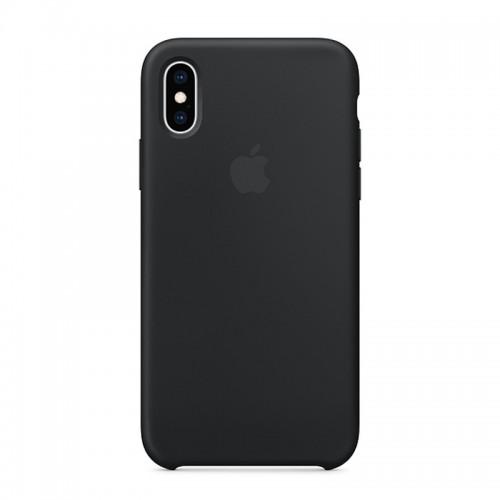 Θήκη Original Apple Silicone Case για iPhone XS Max (MRWE2ZM/A) (Black)