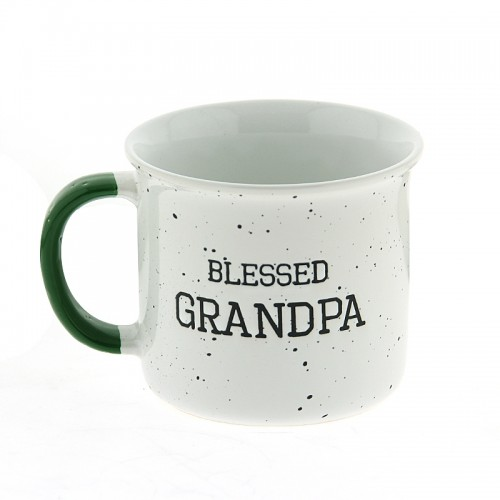 Κούπα Blessed Grandpa 420ml (Άσπρο-Πράσινο)