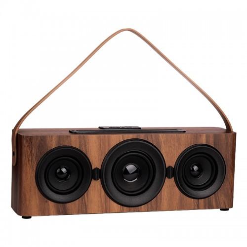 Ασύρματο Ηχείο Bluetooth Wood (Καφέ)