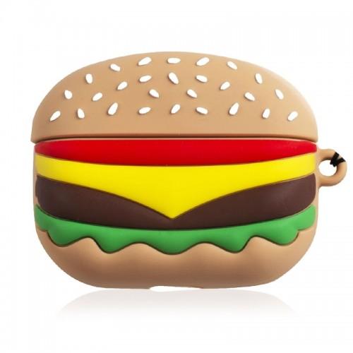Θήκη Σιλικόνης Burger για Apple AirPods Pro (Design)