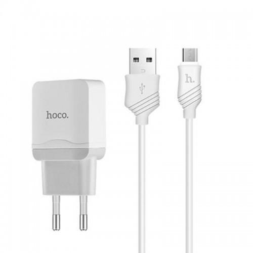 Φορτιστής Hoco C22A Micro Usb 2.4A (Άσπρο)