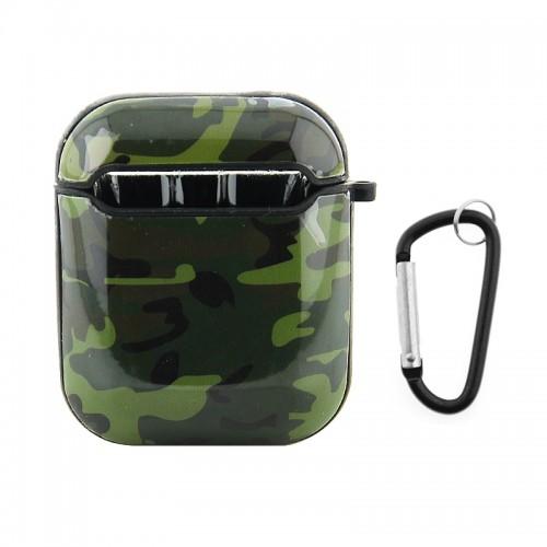 Θήκη με Κλίπ Camouflage για Apple AirPods (Design)