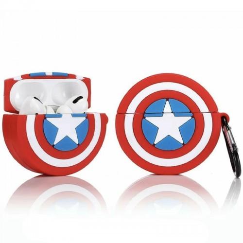 Θήκη Σιλικόνης Captain America Shield 2 για Apple AirPods Pro (Design)