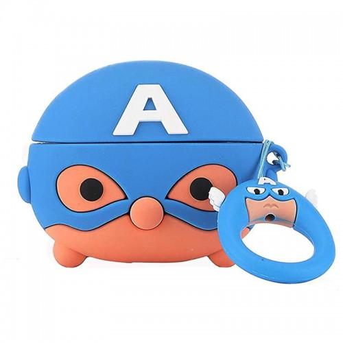 Θήκη Σιλικόνης Captain America για Apple AirPods Pro (Design)