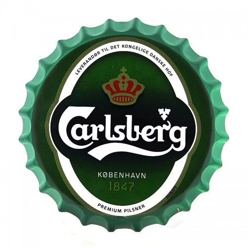Διακοσμητικό Τοίχου Καπάκι Carlsberg (Πράσινο)