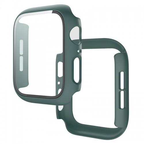 Θήκη Προστασίας με Tempered Glass για Apple Watch 44mm (Casal Green)