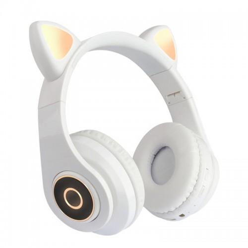 Ασύρματα Αναδιπλώμενα Ακουστικά CAT LX-B39A με LED Φωτισμό (Άσπρο)
