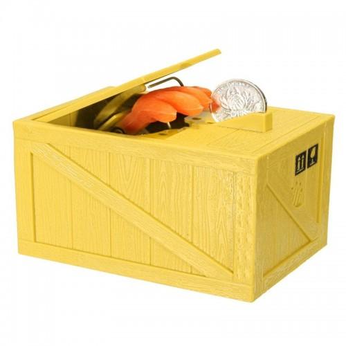 Κουμπαράς Αυτόματος Cat In Box (Κίτρινο)