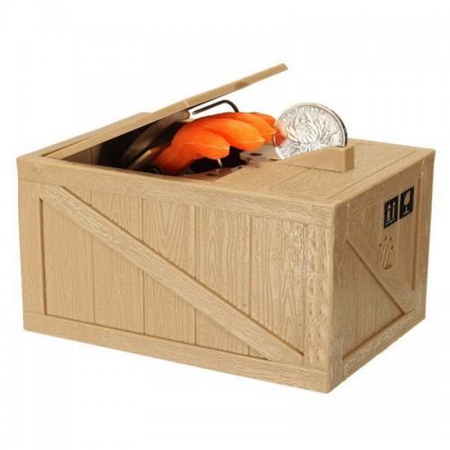 Κουμπαράς Αυτόματος Cat In Box (Μπεζ)