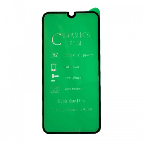 Ceramic Μεμβράνη Προστασίας Full Cover για Xiaomi Redmi Note 9 Pro (Μαύρο)