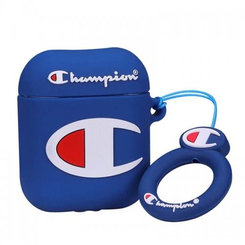 Θήκη Σιλικόνης Champion Blue για Apple AirPods (Design)