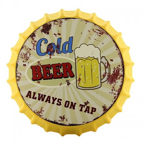 Διακοσμητικό Τοίχου Καπάκι Cold Beer on Tap (Design)