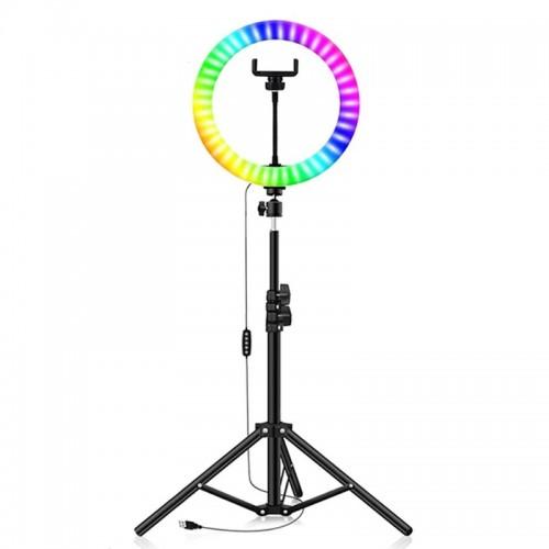 Led Ring Light 30cm 12'' με Εναλλαγή Χρωμάτων και Τρίποδο (Μαύρο)
