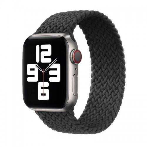 Ανταλλακτικό Λουράκι Σιλικόνης OEM Braided Solo Loop για Apple Watch 42/44mm (145mm) (Dark Grey)