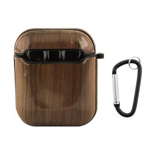 Θήκη με Κλίπ Dark Wood για Apple AirPods (Design)