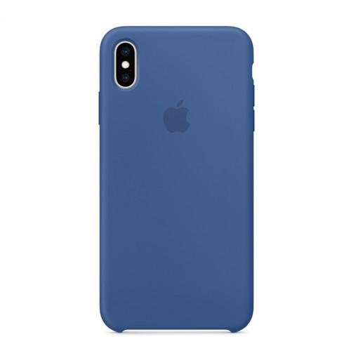 Θήκη Original Apple Silicone Case για iPhone XS Max (MVF62ZM/A) (Delft Blue)