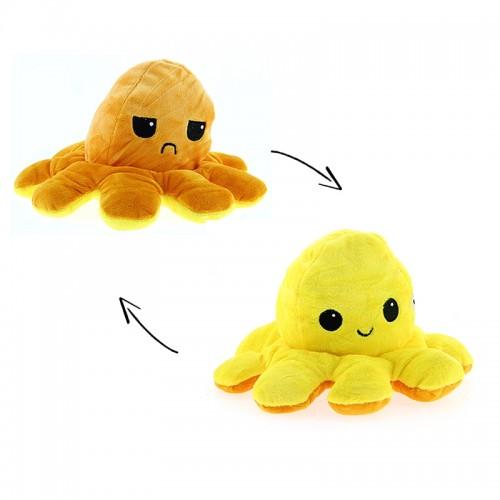 Λούτρινο Χταπόδι Που Αλλάζει Διάθεση Design 1 (Πορτοκαλί-Κίτρινο)