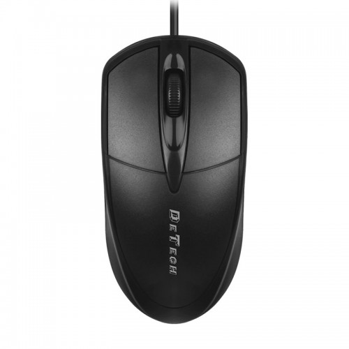 Ενσύρματο Ποντίκι DeTech D2 (Μαύρο)