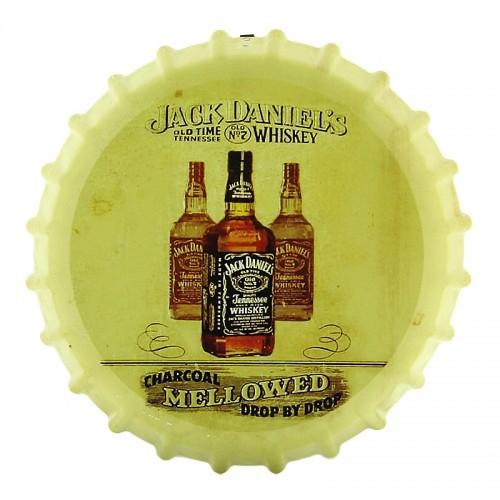 Διακοσμητικό Τοίχου Καπάκι Jack Daniel's Triple (Κίτρινο)