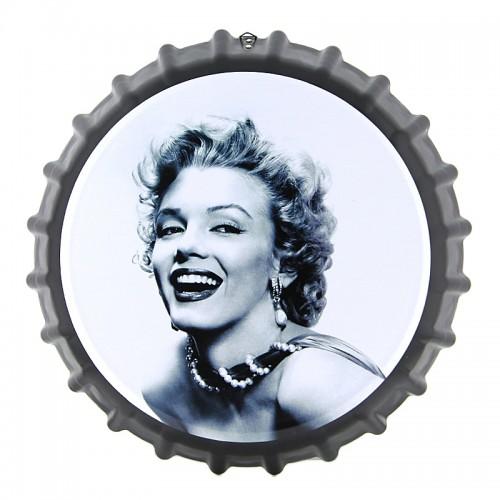 Διακοσμητικό Τοίχου Καπάκι Marilyn Monroe (Μαύρο-Άσπρο)