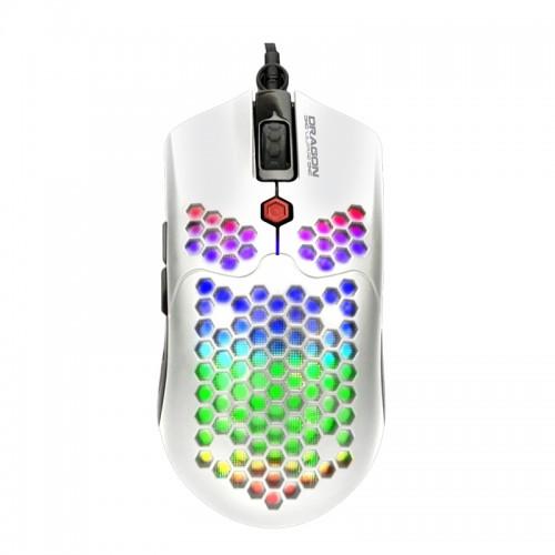 Ενσύρματο 7D Gaming Ποντίκι DragonWar G25 με LED Φωτισμό και Macro Κουμπιά (Άσπρο)