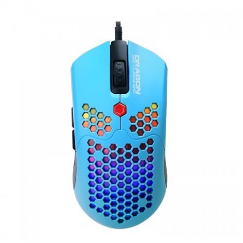 Ενσύρματο 7D Gaming Ποντίκι DragonWar G25 με LED Φωτισμό και Macro Κουμπιά (Γαλάζιο)