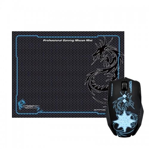 Gaming Ενσύρματο Ποντίκι DragonWar G7 με Mousepad (Μαύρο)