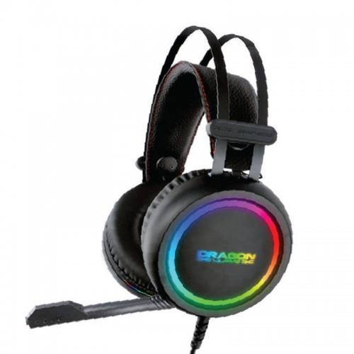 Ενσύρματα Ακουστικά Gaming Headset DragonWar GHS012 με Μικρόφωνο και RGB Φωτισμό (Μαύρο)