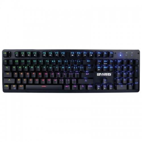 Ενσύρματο Μηχανικό Full RGB Πληκτρολόγιο DragonWar GK-016 (Μαύρο)