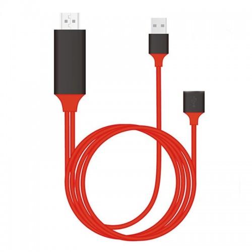 Καλώδιο Earldom ET-W8 USB σε HDMI 1080p HD Plug & Play 1m (Κόκκινο - Μαύρο)
