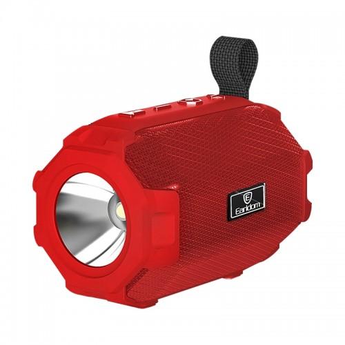 Ασύρματο Ηχείο Bluetooth Earldom A16 με Φακό και FM Radio (Κόκκινο)