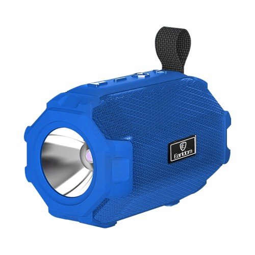 Ασύρματο Ηχείο Bluetooth Earldom A16 με Φακό και FM Radio (Μπλε)