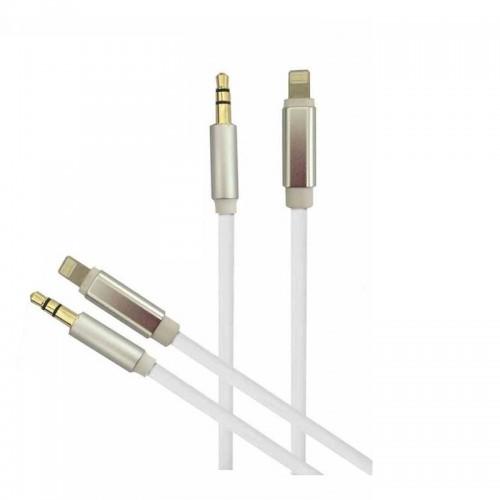 Καλώδιο Earldom ET-AUX22 Lightning σε 3.5mm Audio Jack (Άσπρο-Χρυσό)