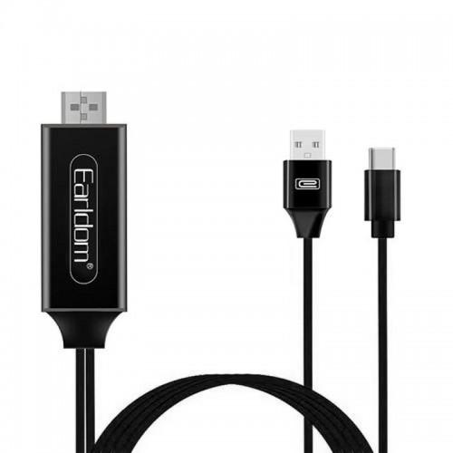 Καλώδιο Earldom HDMI σε Type C 2m ET-W12 (Μαύρο)