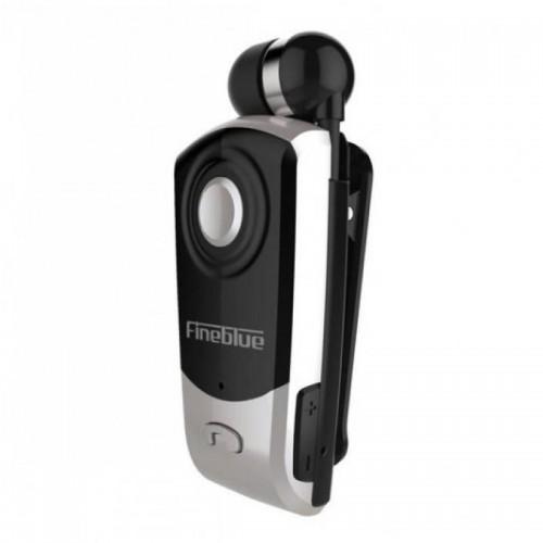 Ακουστικό Bluetooth Clip-On Fineblue F960 (Μαύρο-Ασημί)