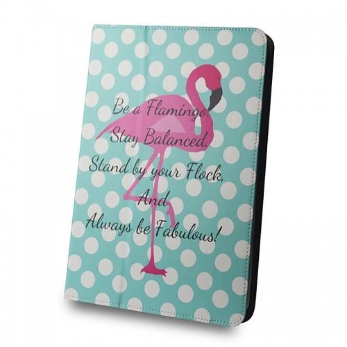 Θήκη Tablet Flamingo and Dots Flip Cover για Universal 7-8'' (Design)